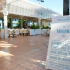 Seaside setting of Taverna, guests get one free visit per stay