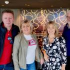Some of the gang at MSC's Yacht Club, with David O'Hagan, Carol Anne O'Neill, Sarah Slattery and Michael Doorley
