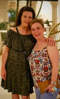 Belinda Hegarty (eTravel) and Ali McCurdy (American Holidays) in Barbados with British Airways