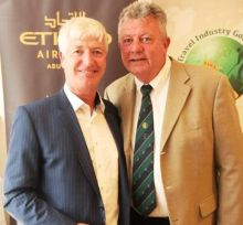 Martin Skelly (Captain TIGS) and Peter O'Hanlon (President TIGS)