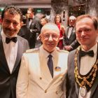 Gianni Onorato (CEO MSC Cruises) with Raffaele Pontecorvo (Captain MSC Bellissima) and Peter Baillie (Sheriff of Southampton)