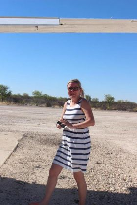 Rannveig Snorradottir (Managing Director OBEO Travel) in Namibia.