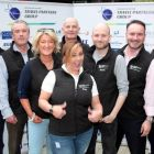 The entire team: Alan Sparling (ASM), Niall Mc Donnell (Classic Collection), Olwen McKinney (Amadeus), Alan Lynch (Fred Olsen & Crosi Europe), Jason Whelan (Blue Insurance), Dermot Merrigan (Irish Ferries), Lee Osborne (BookaBed) and Erica Oglesby (MSC Cruises)