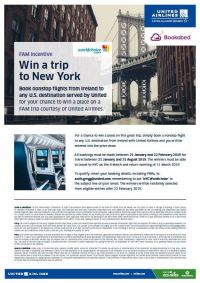 New York with Worldchoice, United Airlines & Bookabed