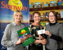 Veronica Culleton (Hilary Murphy Travel), Janet Tobin Martin (winner) and Deirdre Murphy (Hilary Murphy Travel)