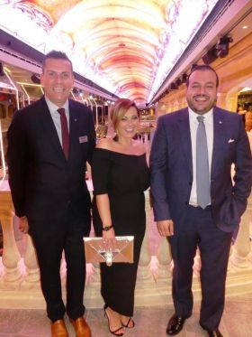 Steve Williams, Erica Oglesby and Antonio Paradiso (UK & IRL Managing Director MSC Cruises)
