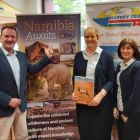 Team Harvey Travel with their all new OBEO Travel Namibia brochure