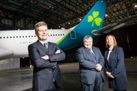 Sean Doyle (Chief Executive Officer Aer Lingus), Mike Rutter (COO Aer Lingus) and Dara McMahon (Director of Marketing & Digital)
