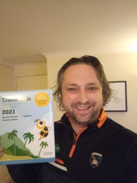 Danny Giles will make all the positive career changing entries in his Travelbiz 2021 Desktop Diary.