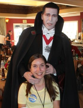 Dracula and birthday girl Kristyna Cesalova (Navan Travel).