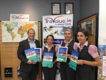 Ivan Beacom (Aer Lingus) delivers brochures