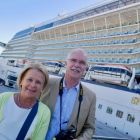 Mr and Mrs John Galligan about to board Eclipse.