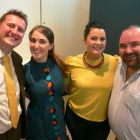 Mark Renshaw (Perowne International), Natasha Rewrie (Reve Tourism) with Rachel McAnaspie and William Walsh (both Click&Go;)