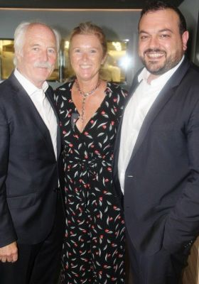 John Spollen (President ITAA) with Mary McKenna (MD Tour America) and Antonio Paradiso (MD MSC Cruises UK and Ireland