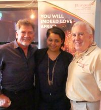 Tony Flynn (Ethiopian Airlines), Eva Adriaans (Namibia Sense of Africa) and Mark Reading (Director)