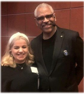 Rebecca Kelly (Senior Sales Manager Princess Cruises) with Arnold W Donald (CEO Carnival Corporation)