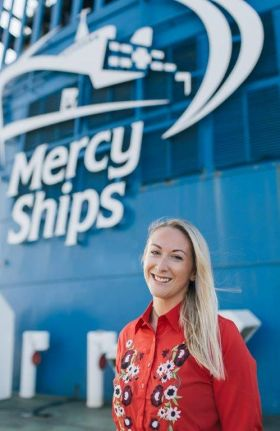 Stena's Sarah goes extra mile to visit Mercy Ship in Africa