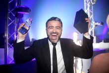 Lee Osborne (Sales Director Bookabed) wins the best reaction on the night hands up!