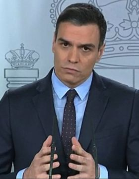 The Spanish president, Pedro Sanchez