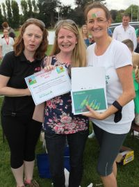 Clair O'Sullivan (FCm) wins the top prize of a trip to Miami with Aer Lingus