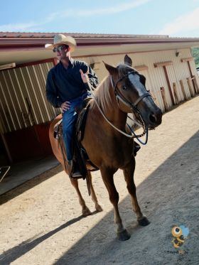 Texas Cowboy in the saddle