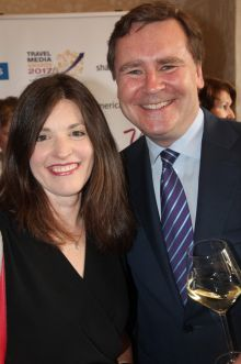 Charlotte Brenner (Falcon/Thomson) and Enda Corneille (GM Emirates Ireland)