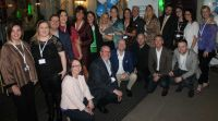 The Blue Insurance Finalists with the Blue Team and Guests.