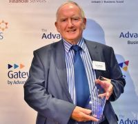 Collecting the award was Terry Murphy (MD Terra Travel)