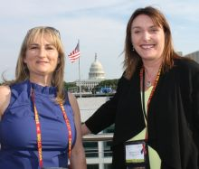 Gillian Young (Executive Director) and Dee Burdock (Chairperson) both Visit USA Committee Ireland