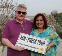 Our hosts Paul Nolan (APG Ireland/Cobalt Air) and Aileen Eglington (AE Consulting/Cyprus Tourism Organisation).