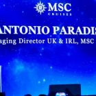 Antonio Paradiso (Managing Director UK & Ireland, MSC Cruises) opens the naming ceremony