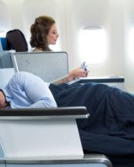 The comfort of home in KLM Business Class
