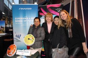 Kanika Mai (Thai Tourist Office London), Catherine Grennell-Whyte (GSA Finnair), Phantajit Promkutkaew and Emma Arnott (both Thai Tourist Office London)