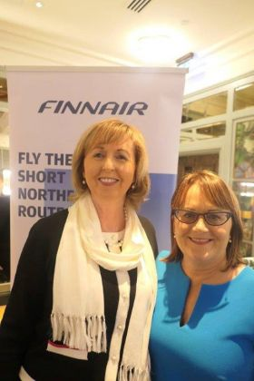 Catherine Grennell Whyte (Finnair ATTS) and Cathy Burke (Travel Counsellors)