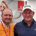 James Fleming (Sunway Holidays) gives Jamie Donaldson some advice. Jamie missed the cut as a result.