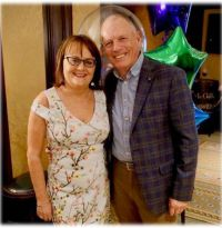 Cathy Burke (GM Travel Counsellors) with her husband Jack Sheill.