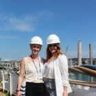 Rosalind Jeffcoat (MSC Cruises) and Natalie Billington (PR Manager MSC Cruises)