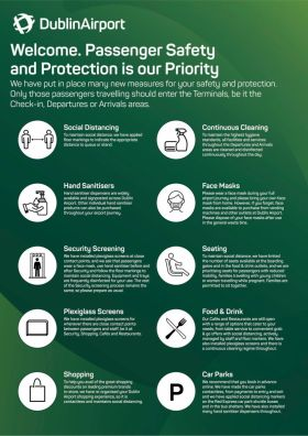 DAA Infographic on new procedures at Dublin and Cork Airports (See more pictures for larger image)