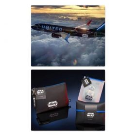 United Airlines will offer Star Wars: The Rise of Skywalker-themed amenity kits and launch its latest inflight safety demonstration video featuring characters from the new film