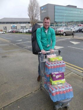 Dermot Lee (Aer Lingus) stocking up