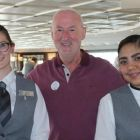 Declan Mescall (Travelbiz) with the Azamara Crew
