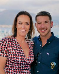 Caroline O'Toole (Weddings at Sea) with Matt Lebbern (Princess Cruises)
