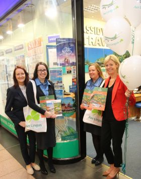 Jenny Rafter (Aer Lingus) and Yvonne Muldoon (Director of Sales Aer Lingus) at the Cassidy Travel office