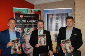 Andy Eastham (PR & Communications Manager), John Booty (Manager Ireland) and John Warr (Global Sales Director)