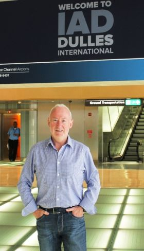 Declan Mescall (Features Editor Travelbiz) arriving at Dulles International Airport Washington DC
