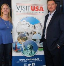 Claire Doherty (Chairperson Visit USA Committee) and Tony Lane (Executive Director Visit USA Committee)
