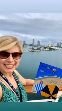 Michelle & Royal Caribbean Miami love the all new look Travelbiz 2020 Trade Directory & Diary