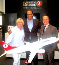 CarolAnne O'Neill (Worldchoice), Peter Friedrich (Country Manager TravelCube) and Onur Gull (Sales & Marketing Executive Turkish Airlines)