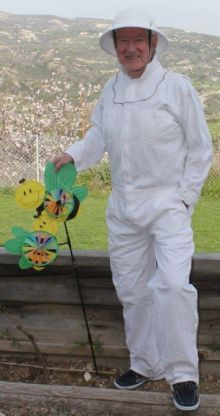 Declan is now a real Bee Keeper!
