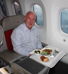 Declan Mescall (Features Editor Travelbiz) is on Cloud Nine on the Ethiopian Airlines flight on route to Durban, South Africa via Addis Ababa